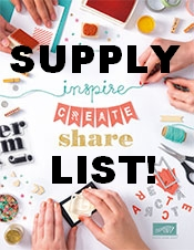 All the supplies listed to create those awesome projects in the catalog!