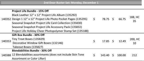 December 1 Door Busters