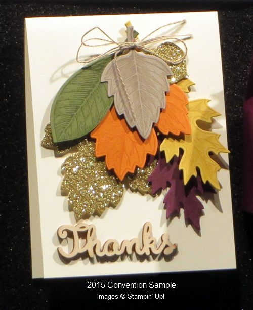 Convention Card - Vintage Leaves
