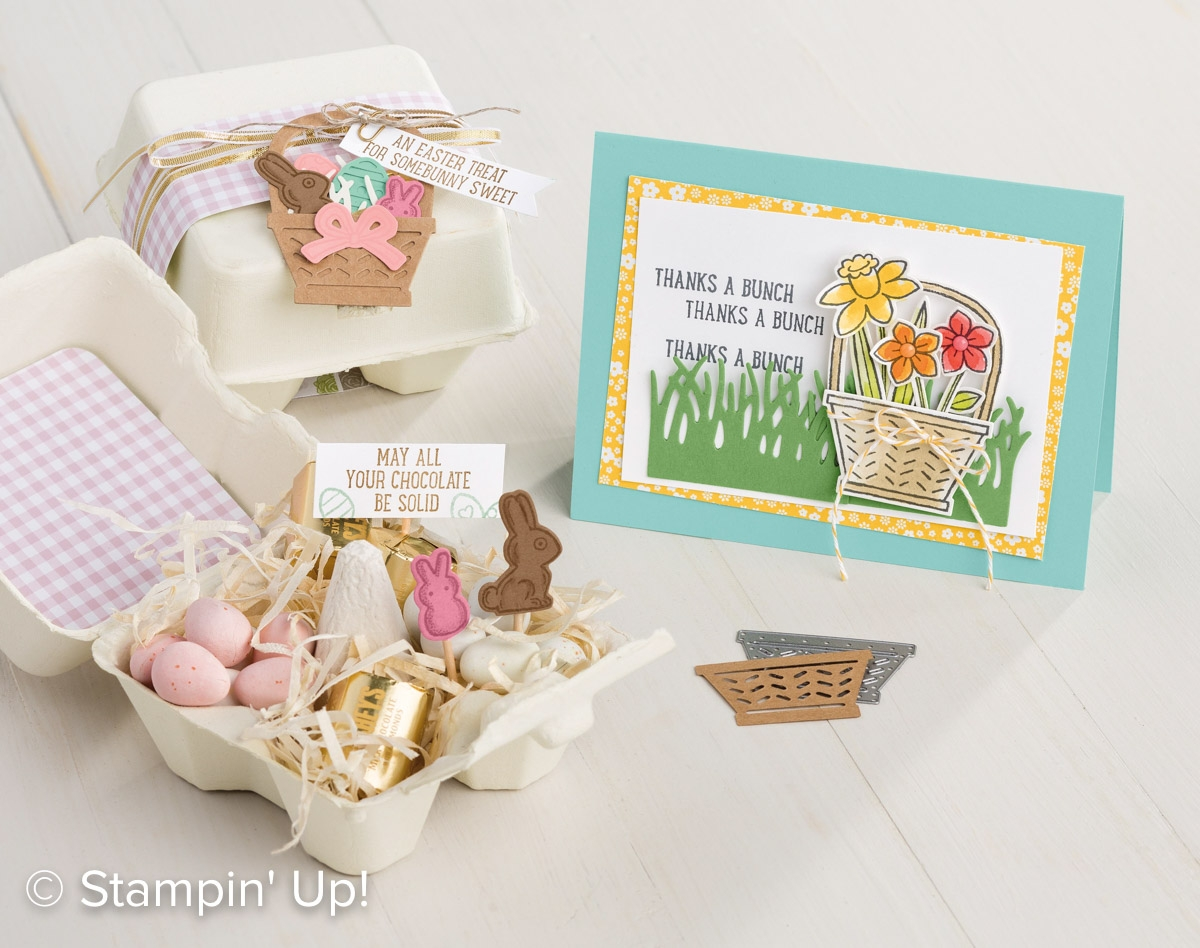 Basket Bunch Photopolymer stamp set and the